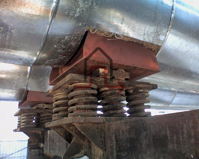 пружинные подвески на трубопроводе
